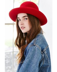 Urban Outfitters Annie Oversized Felt Bowler Hat