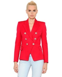 Balmain Double Breasted Cool Wool Jacket