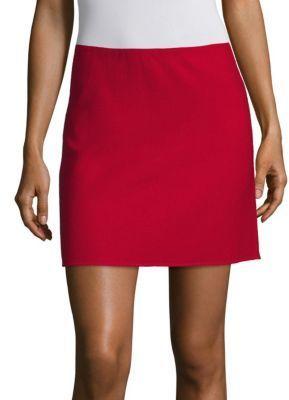 713ba177c0 Theory Irenah Saxton A Line Mini Skirt, $295 | Saks Fifth Avenue ...