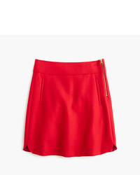 J.Crew Petite Mini Skirt In Double Serge Wool