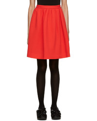 MSGM Red Circle Miniskirt
