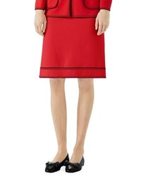 Gucci Wool A Line Skirt