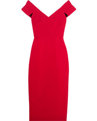 Red Wool Sheath Dress