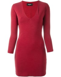 Dsquared2 V Neck Shift Dress