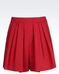 Emporio Armani Bermuda Shorts In Stretch Wool