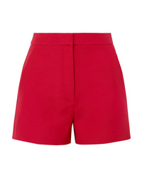 Valentino Wool And Silk Blend Crepe Shorts