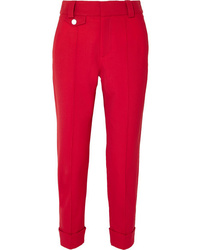 Proenza Schouler Carrot Cropped Wool Blend Drill Tapered Pants