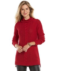 Chaps Cable Knit Tunic Sweater