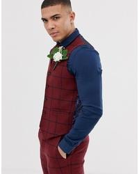 Red Wool Waistcoat
