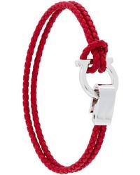 Salvatore Ferragamo Woven Gancio Bracelet