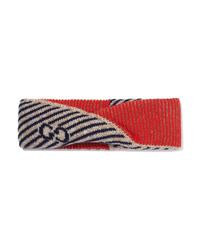 Gucci Metallic Intarsia Wool Blend Headband