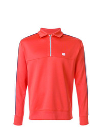 AMI Alexandre Mattiussi Bicolor Sweatshirt With Polo Collar