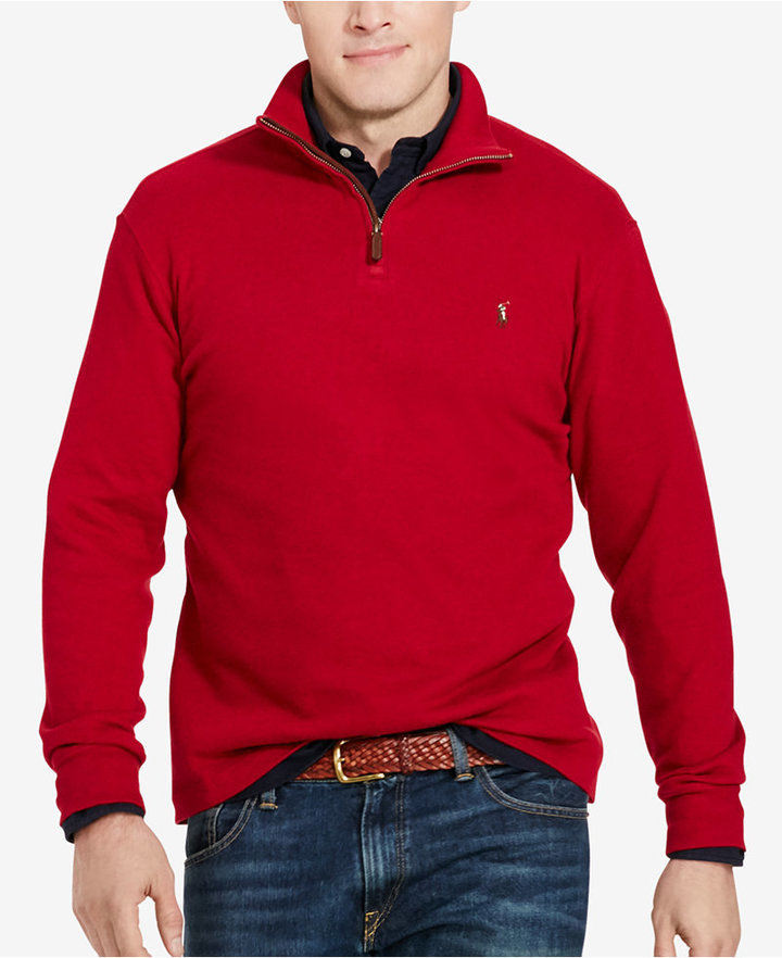 $98, Polo Ralph Lauren Big Tall Estate Rib Half Zip Sweater