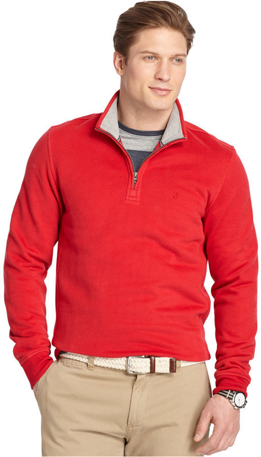 Izod Quarter Zip Fleece Pullover | Where to buy & how to wear