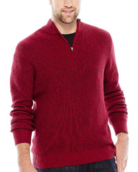 Izod Quarter Zip Marled Shaker Sweater Big Tall
