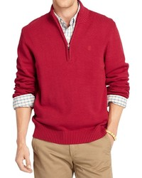 Izod Solid Sweater Zip Neck