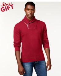 Sean John Zip Shawl Collar Sweater Only At Macys