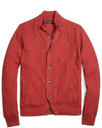 Brooks Brothers Cotton Cashmere Mockneck Cardigan