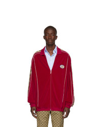 Gucci Red Zipover Track Jacket