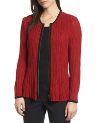 Ming Wang Ribbed Sweater Jacket