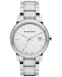 Reloj a cuadros blanco de Burberry