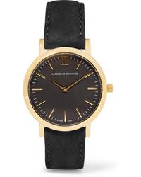 Reloj de ante negro de Larsson & Jennings