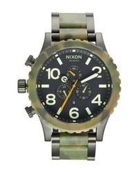 Reloj de camuflaje verde oscuro de Nixon