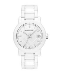 Reloj de cerámica blanco de Burberry