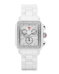 Reloj de cerámica blanco de Michele