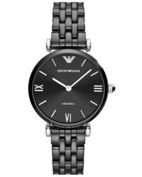 Reloj de cerámica negro de Emporio Armani