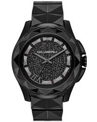 Reloj de cerámica negro de Karl Lagerfeld