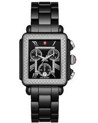 Reloj de cerámica negro de Michele