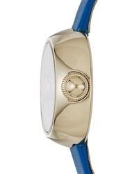 Reloj de cuero azul de Marc Jacobs