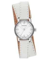 Reloj de cuero blanco de Burberry