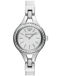 Reloj de cuero blanco de Emporio Armani