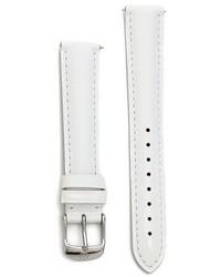 Reloj de cuero blanco de Michele