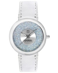 Reloj de cuero blanco de Sperry