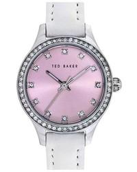 Reloj de cuero blanco de Ted Baker London