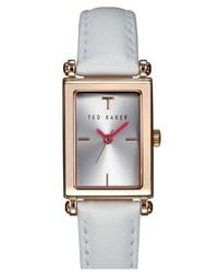 Reloj de cuero blanco de Ted Baker