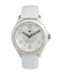 Reloj de cuero blanco de Tommy Hilfiger