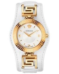 Reloj de cuero blanco de Versace