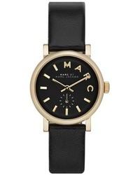 Reloj de cuero en negro y dorado de Marc by Marc Jacobs