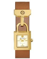 Reloj de Cuero en Tabaco de Tory Burch