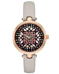 Reloj de Cuero Gris de Kate Spade