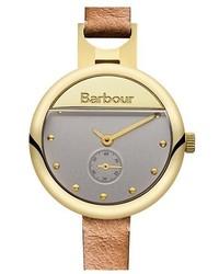 Reloj de cuero marrón claro de Barbour
