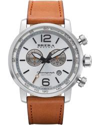 Reloj de cuero marrón claro de Brera