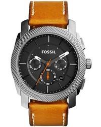 Reloj de cuero marrón claro de Fossil