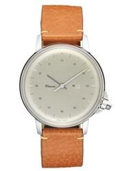 Reloj de cuero marrón claro de Miansai