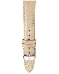 Reloj de cuero marrón claro de Michele