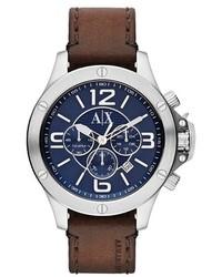 Reloj de cuero marrón de Armani Exchange